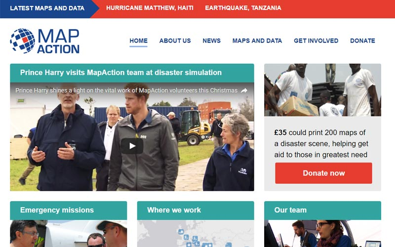 MapAction website